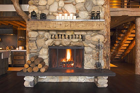 Kamin im Haus