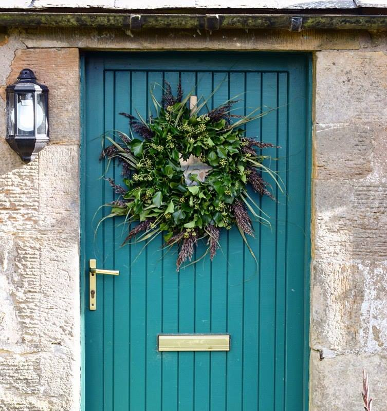 reed and ivy wreath