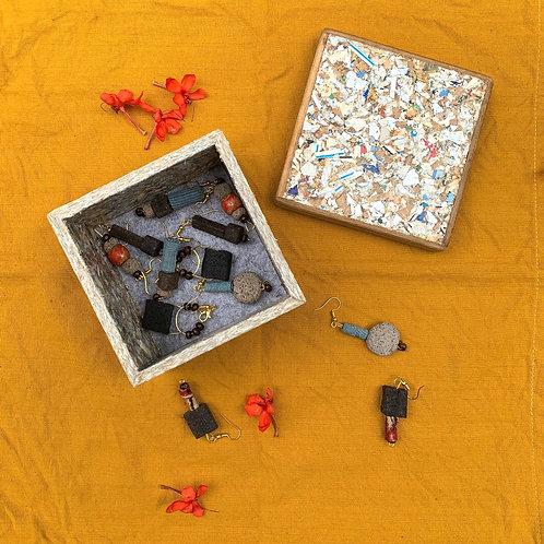 EARRINGS + TRINKET BOX COMBO