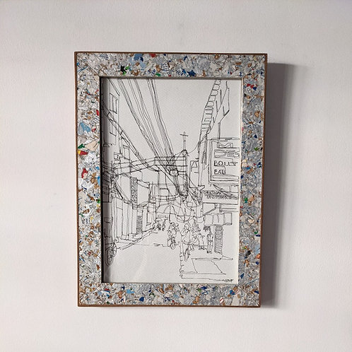 CITYSCAPE WITH FRAME