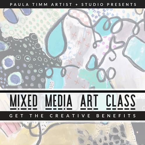 mixed media art class