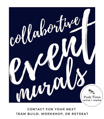 collaborative event murals