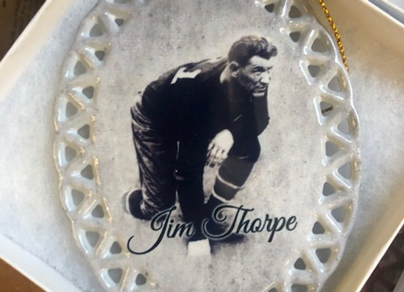 Custom Jim Thorpe Ornament