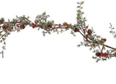 Pine Cone and Berry Garland