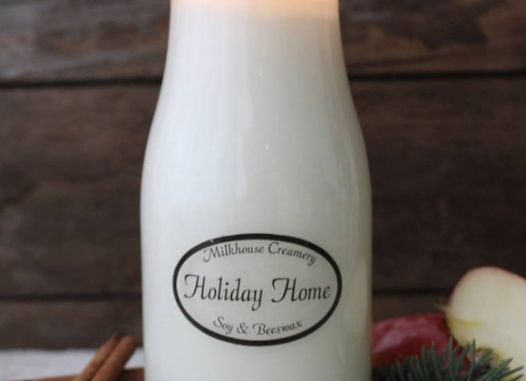 Holiday Home 8oz Milkbottle candle