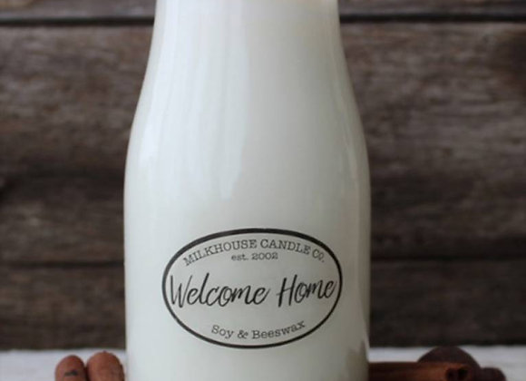 Welcome Home 8oz. Milk bottle candle