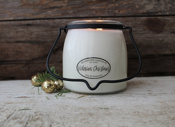 16oz Butter Jar Candle- Victorian Christmas