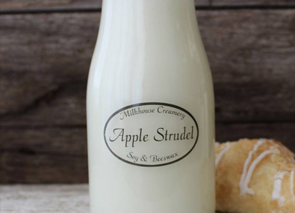 Apple strudel 8oz milk bottle candle