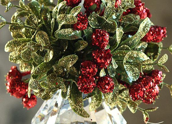 Mini Mistletoe Krystal Jewel Ornament