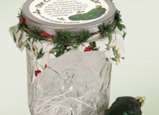 Glass Christmas Pickle in Mason Jar