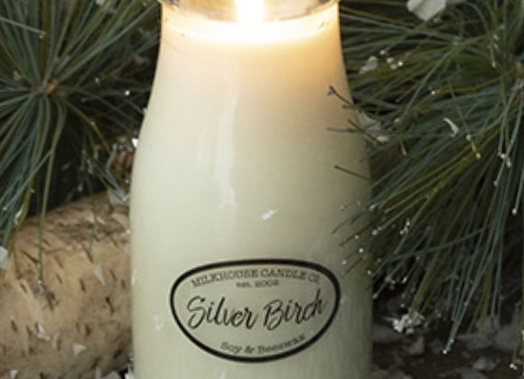 Silver Birch 8oz. Milk bottle candle