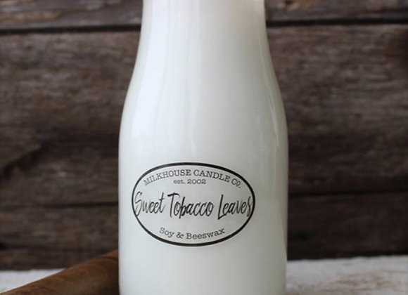 Sweet Tobacco Leaves 8oz. Milkbottle candle