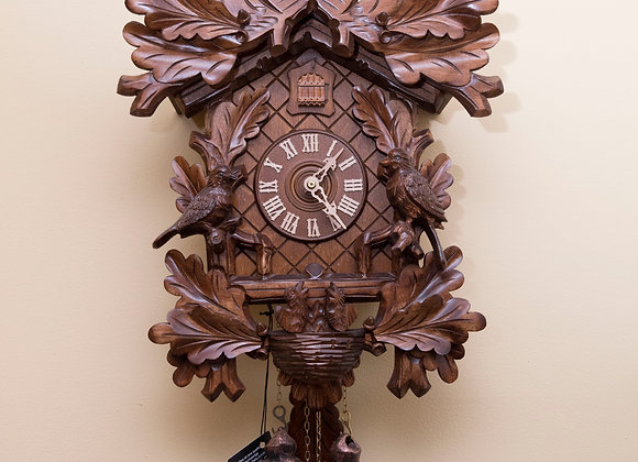 Black Forest 8 Day Carved Owl Cuckoo Clock