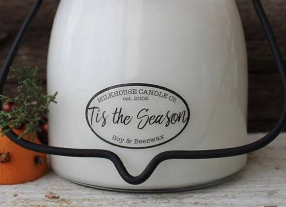 Tis the Season 16oz. Milk bottle candle