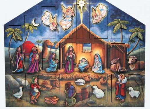Byers' Choice Musical Nativity Advent Calendar