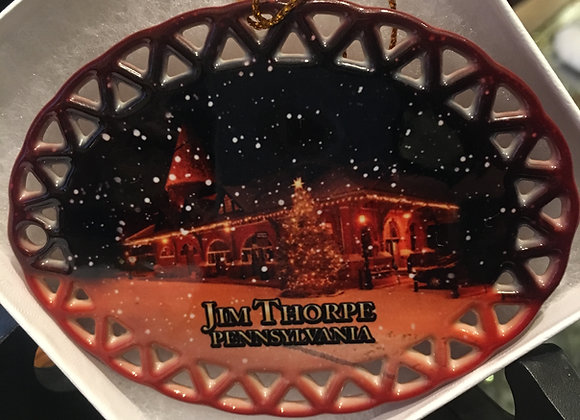 Jim Thorpe Snowy Scene Ornament