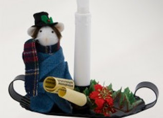 Dickensian Mouse with Candle