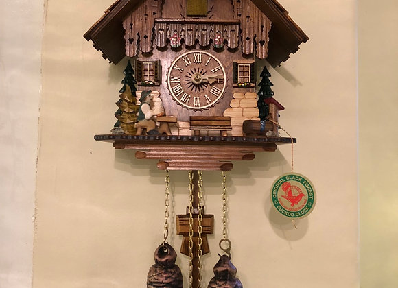 Original Black Forest beer drinker cuckoo clock