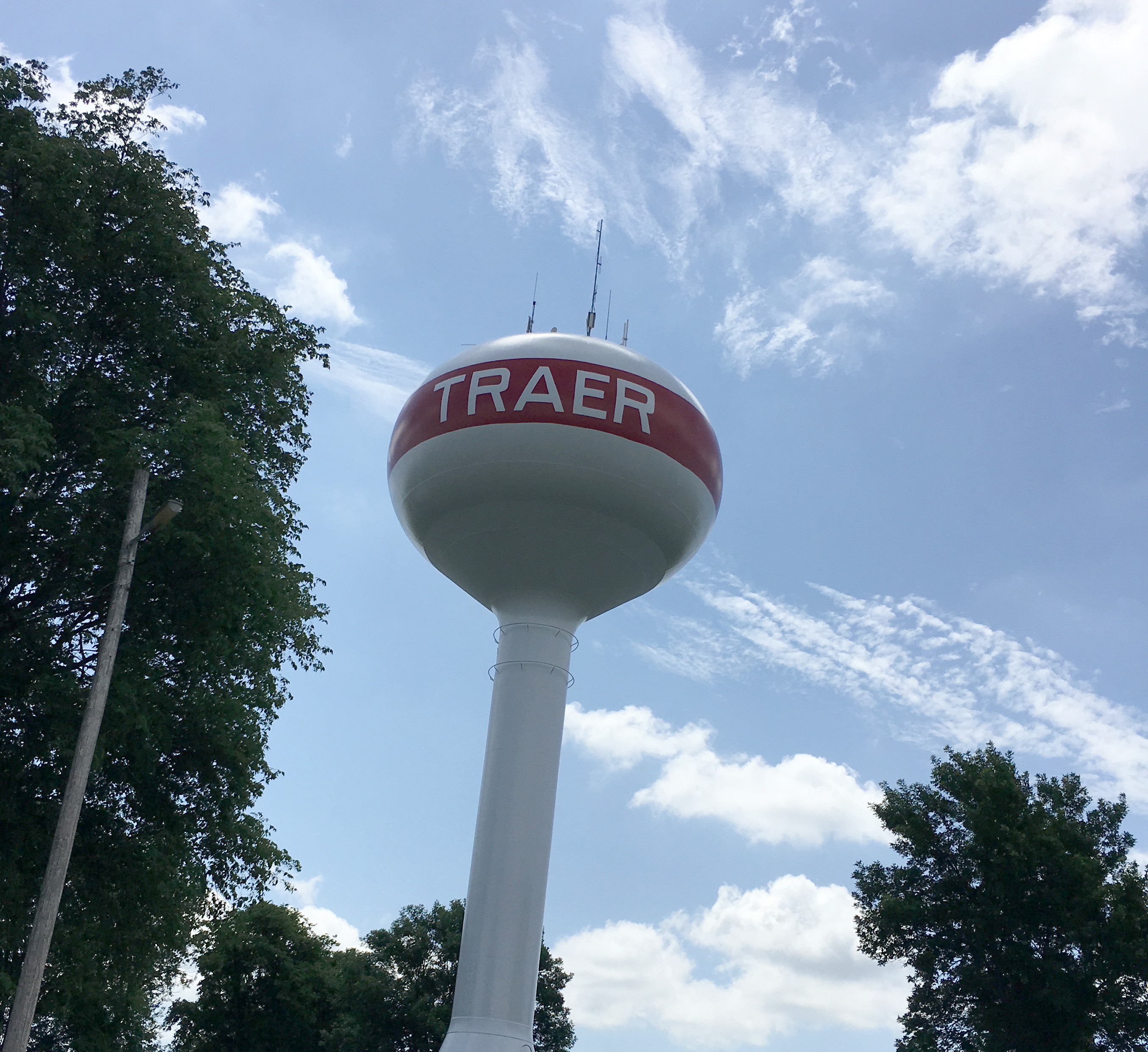 Traer Water Tower