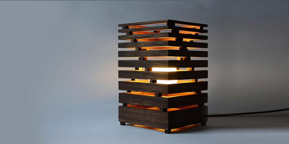 AMERICAN WALNUT BAULAMPE TABLE LAMP