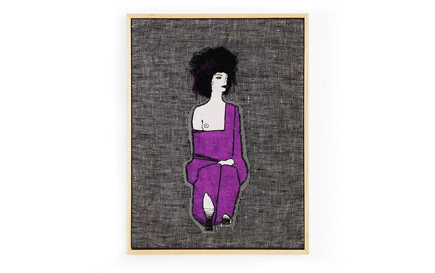 "EGON SCHIELE EMBROIDERY ART ( 9' x 12"")"