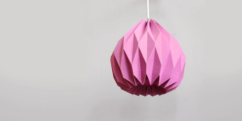 DIAMOND PENDANT LAMP 9000 ORIGAMI LAMPSHADE