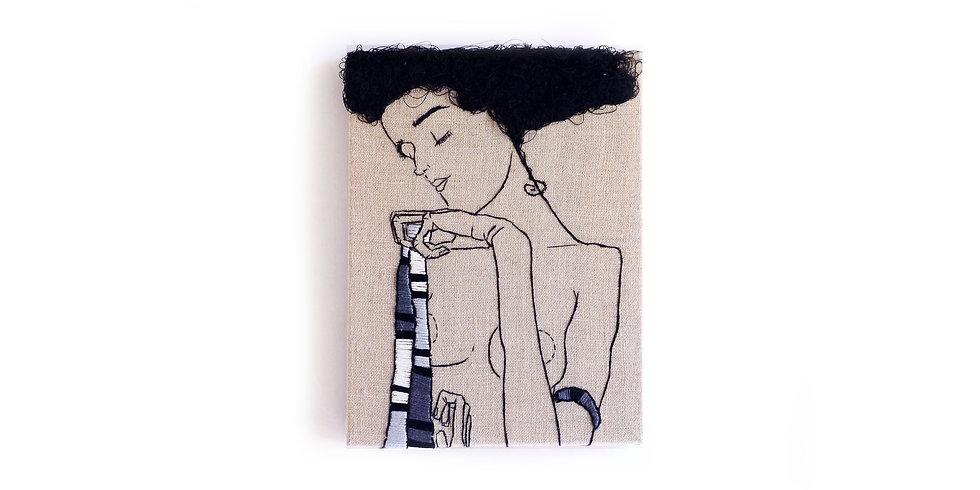 "EGON SCHIELE EMBROIDERY ART (6"" x 8"")"