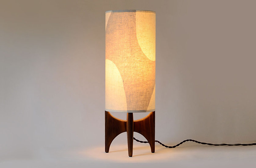 ambient table lamp in beige & off white