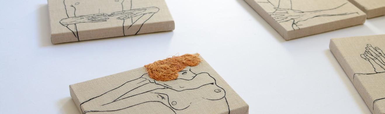 EGON SCHIELE EMBROIDERY ART