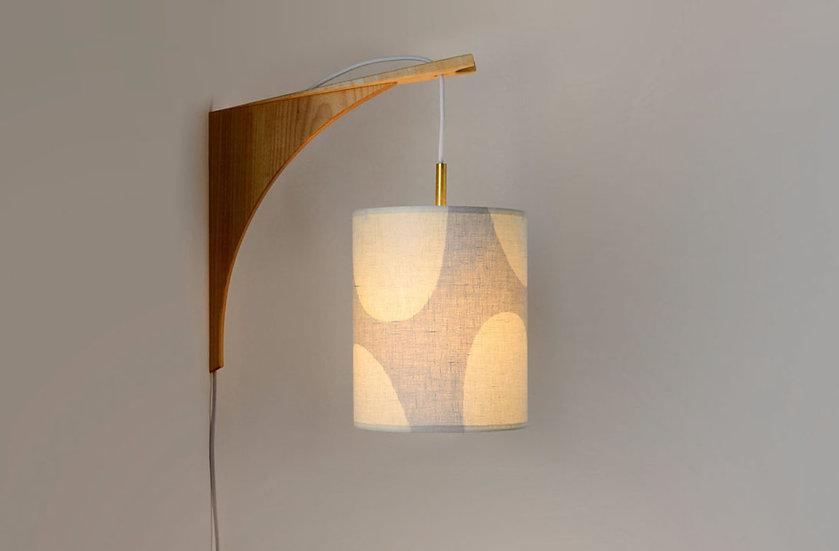 LUMA WALL LAMP - Beige Shade/Maple Bracket