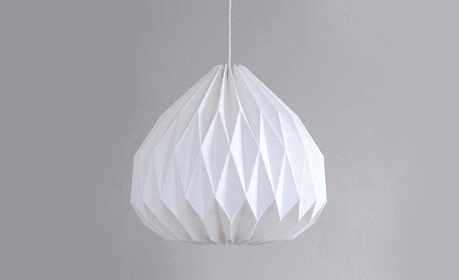 Large origami pendant lamp