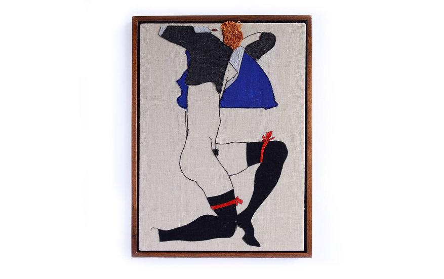 "EGON SCHIELE EMBROIDERY ART  ( 9"" x 12"" )"