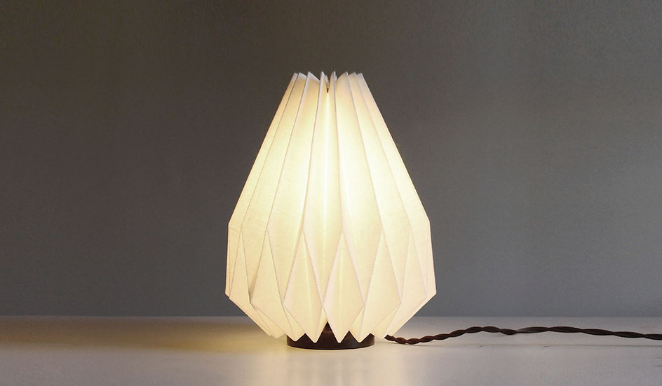 Origami Table Lamp with wooden base