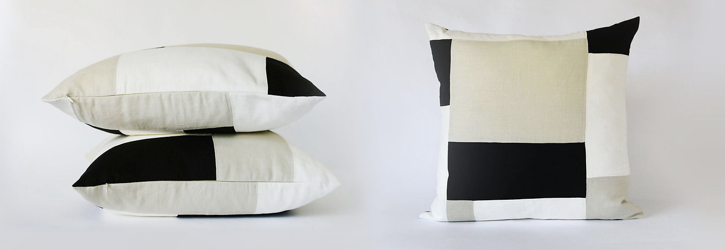 Handcrafted Throw Pillows made of linen