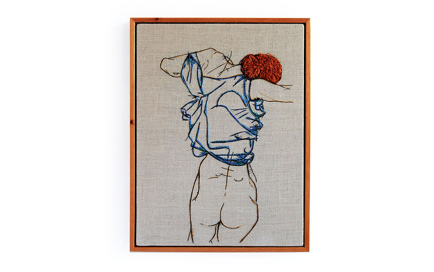"""EGON SCHIELE EMBROIDERY ART ( 9' x 12"""")  MADE TO ORDER"""