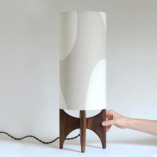 Black walnut Table lamp