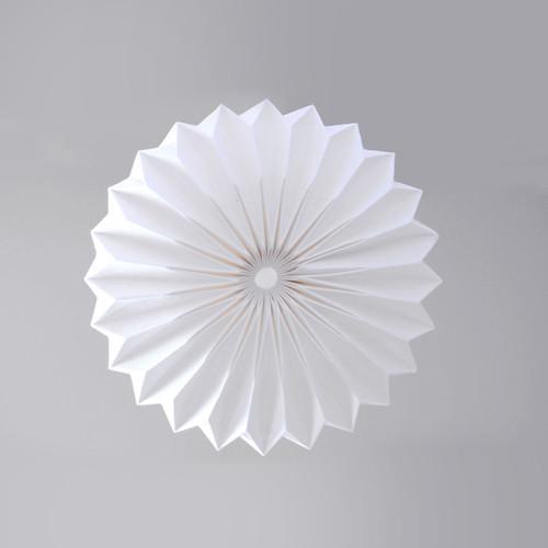 White origami pendant lamp