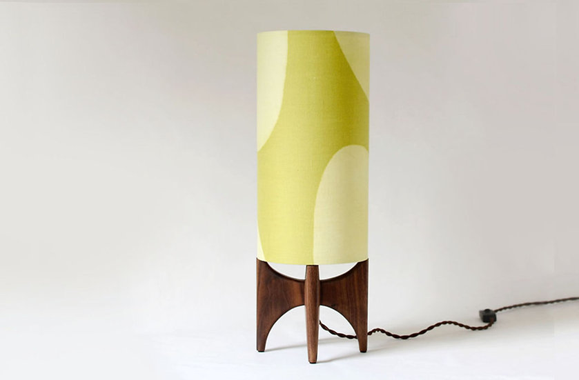 Tall table lamp in an office