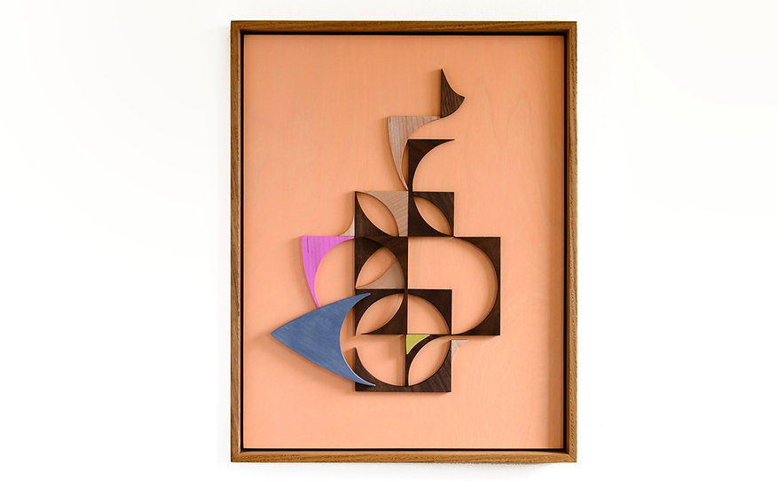 Abstract composition home decor art wall