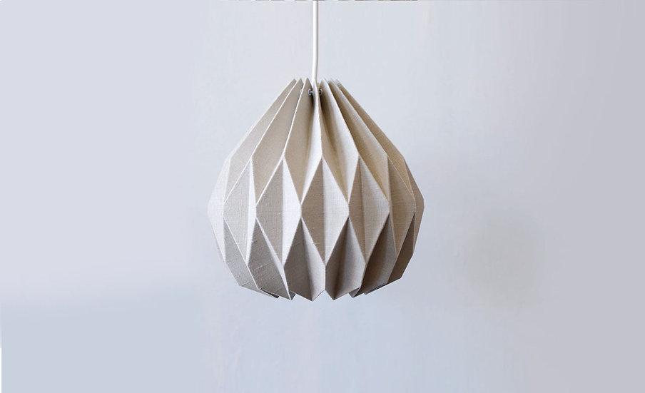 Grey Origami Linen Pendant Lamp