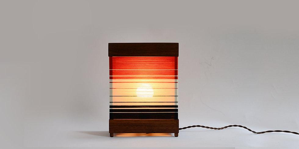 SMALL STRATA LAMP - Black Walnut