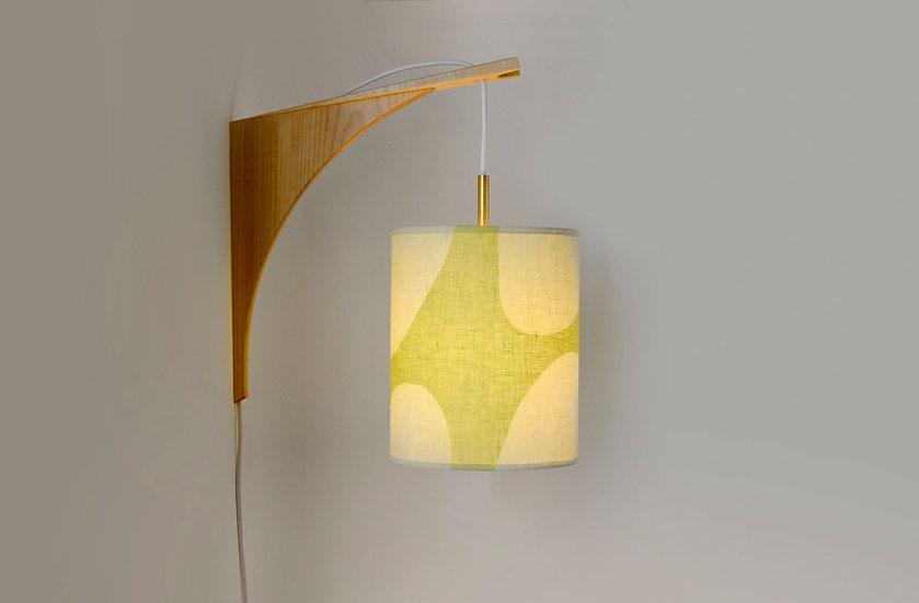 LUMA WALL LAMP - Green Shade/Maple Bracket
