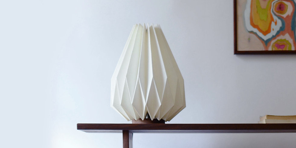 Origami Table Lamp - Handcrafted