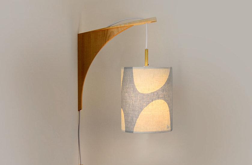 LUMA WALL LAMP - Grey Shade/Maple Bracket