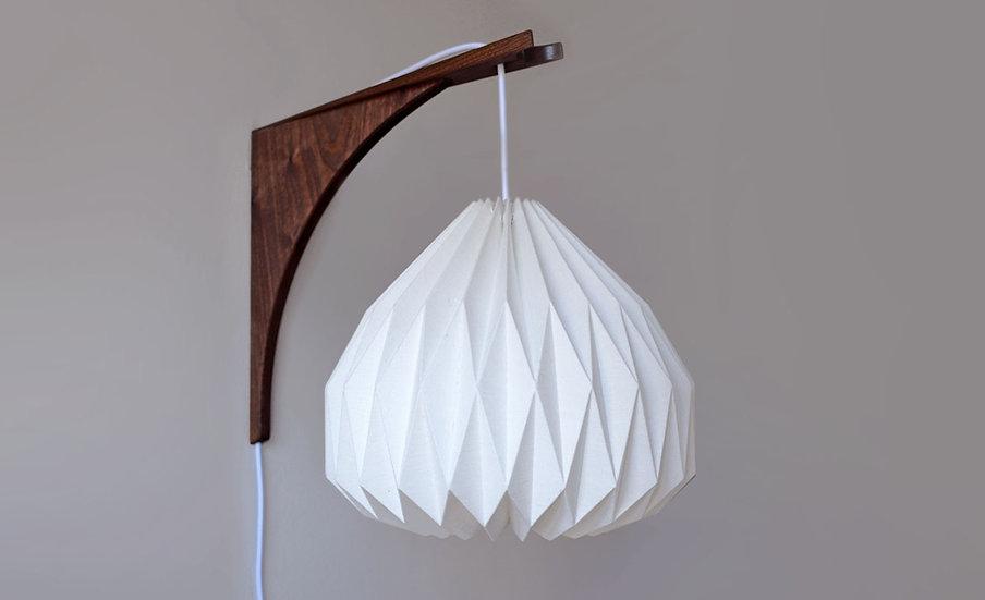 Walnut Origami Wall lamp