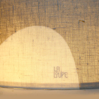 Linen lampshade detail