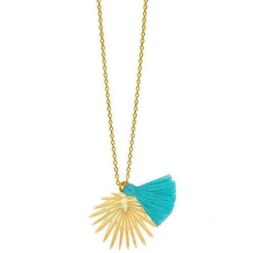 Palm paradise pendant necklace