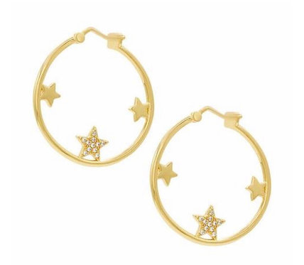 Circle Star Hoops