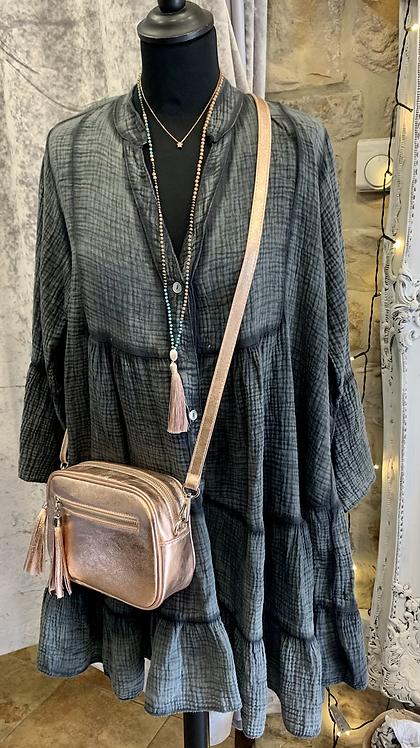Mimi Tiered Italian Cotton Tunic Dress