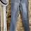 Thumbnail: Pale Denim Frayed Ankle Skinny Jeans